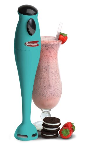 Elite Cuisine EHB-1000BL Maxi-Matic 150 Watt Hand Blender with One Touch Button, Blue
