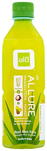 ALO Allure Aloe Vera Juice Drink, Mangosteen + Mango, 16.9 Ounce (Pack of 12)