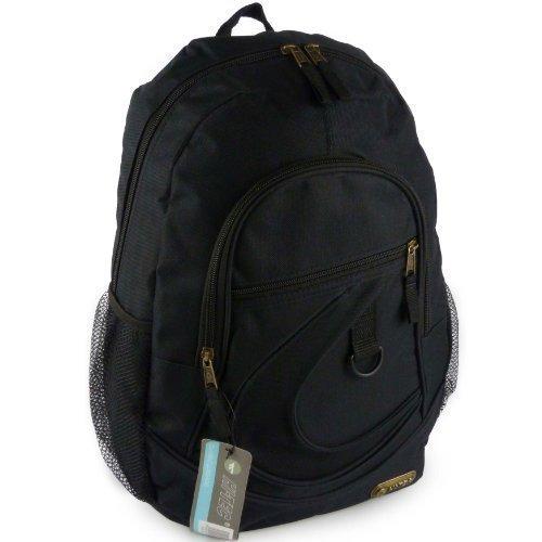 Hi-Tec-Large-Mens-Boys-Black-BACKPACK-RUCKSACK-School-or-College-Bag-Travel