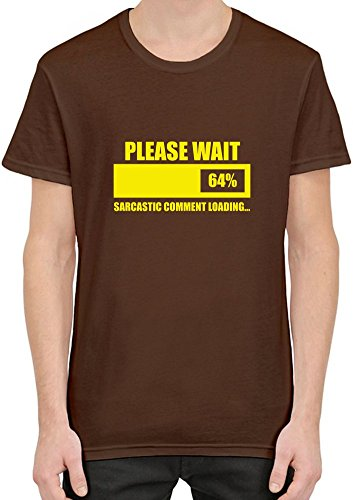 Please Wait Sarcastic Comment Is Loading T-Shirt per Uomini X-Large