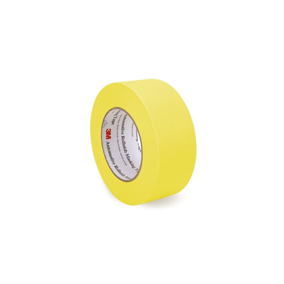 3m 06654 refinish masking tape 36 mm x 55 m yellow