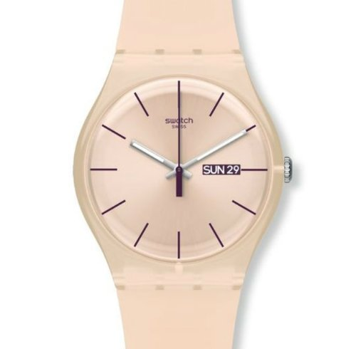Swatch Originals Rose Rebel Pink Dial Silicone