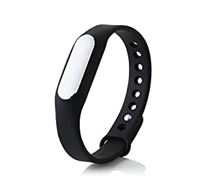 NABUER(TM) Genuine MiBand Smart Bluetooth Sleep and Activity Fitness Tracker Wrist Band Bracelet Sync Phone & App Original by Xiaomi Requires Android 4.4+ or iOS7+ Bluetooth 4.0
