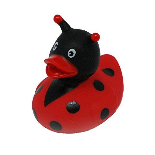 Lilalu-8-x-8-cm-50-g-Collector-y-Baby-Ladybug-Goma-Juguete-de-bao-Pato