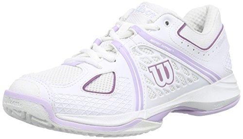 Wilson NVISION WOMAN, Scarpe da tennis donna, Multicolore (Mehrfarbig (White / White / Violet Ice)), 39 2/3