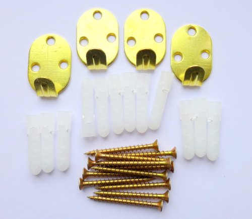 3-hole-heavy-duty-picture-hooks-pack-of-4-with-screws-and-plugs