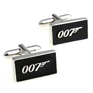 GNG Novelty Cufflinks James Bond 007 Style+gift Bag