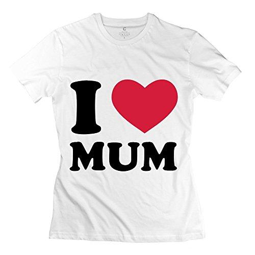 White 100% Cotton Love Mum Shirts For Honey Size M
