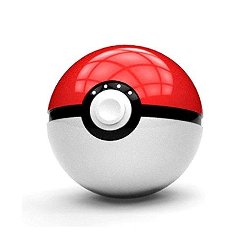 Chillout® Batteria esterno Pokemon pokéball grande capacità con LED integrata 12000mAh pokémon GB Pikachu Ash Ketchum Anime Manga batteria batteria esterna per Smartphone thematys