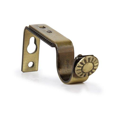 2pcs Supports de Tringle à Rideau en Métal Réglable pour 22mm Tringle - Bronze