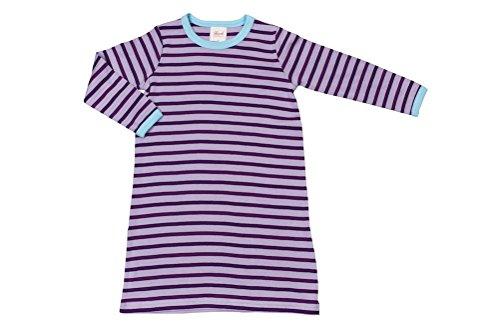 Bb--manches-longues-Chemise-de-nuit-violetgeringelt-Taille-92-Bio