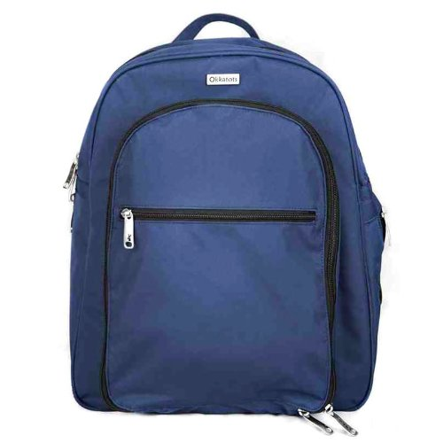 Okkatots Backpack Diaper Bag In Navy front-596348