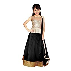 Najara Fashion fancy material traditional semi-stitched lahenga choli (njc006 3-4 yr)