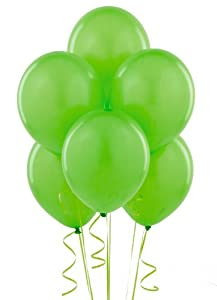 Fresh Lime (Lime Green) Balloons (6) from Birthday Express