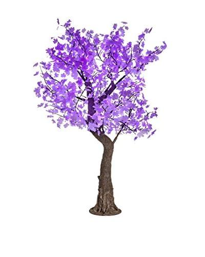LED White Maple Tree, Purple Bulbs