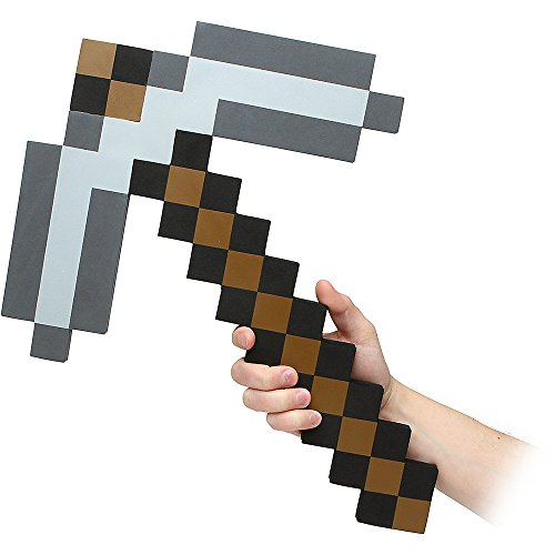 Think Geek Minecraft Pick Axe Foam Weapon Action Figure Accessory - 1