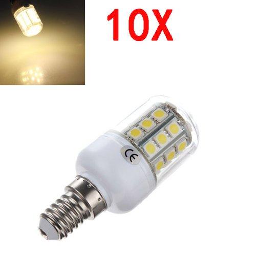 10X E14 3.2W Warm White 5050 Smd 30 Led Corn Bulb With Cover 220V