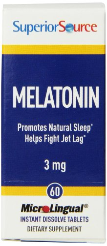 Superior Source Melatonin With Camomile Nutritional Supplements, 3Mg, 1Mg, 60 Count