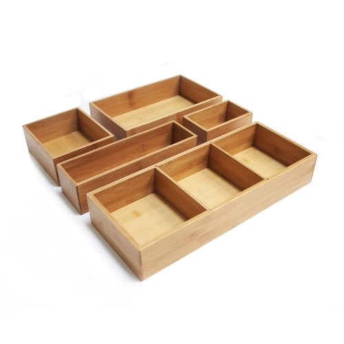 Seville Classics Bamboo Drawer Organizer Boxes (10 Inch Drawer compare prices)