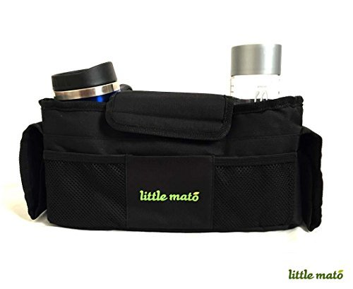Little Mato Universal Baby Stroller Organizer Travel Bag Caddy With Velcro Pockets - 1
