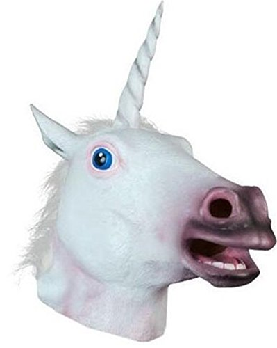 Skue Unicorn Adult Head Latex Mask Holloween Party (Giraffe Deluxe Latex Mask)