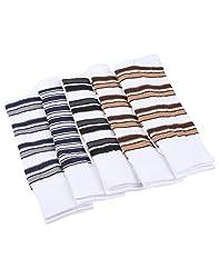 Mikado White Colour Cotton Full Lenght Socks for Men - 10 Pair Pack