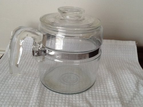 Vintage Pyrex 6 Cup Glass Stovetop Percolator Coffee Pot (Pot and LID Only) (Pyrex Coffee Percolator compare prices)