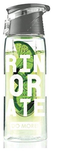 DOMORE デトックス ウォーター ボトル 水筒 マイボトル エコボトル Water infuser bottle 容量 700ml 100% BPAフリー 高品質 TRITAN プラスチック 製 【食衛法 検査済 日本正規品】全4色 (ブラック)