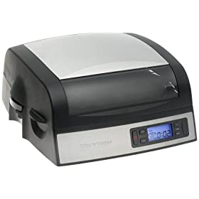 West Bend 76026 High Speed Baking QuikServe Oven, Black/Silver