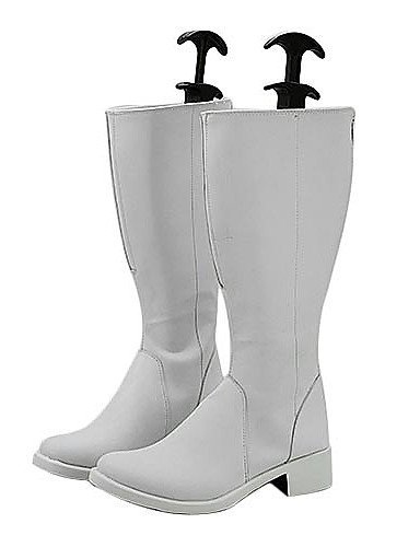 [FW@ Hakkenden: Eight Dogs of the East Mitsuki Ayane PU Leather Cosplay Boots , male , 44] (Ayane Cosplay Costumes)