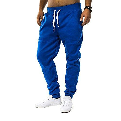 Pantaloni della tuta Uomo Fit & Casa ID1128 (vari colori), Farben:Blau;Größe-Hosen:XL