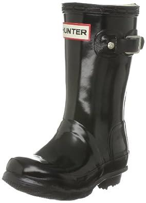 Hunter Original Kids Gloss Black Wellington Boot W23991 7 Child UK