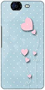 Snoogg Pink Balloons Blue Dots Designer Protective Back Case Cover For Micromax Canvas Knight A350