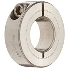 Ruland One-Piece Clamping Shaft Collar, Stainless Steel 303