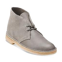 Clarks Men\'s Desert Leather Gray Fashion Boot 8 M
