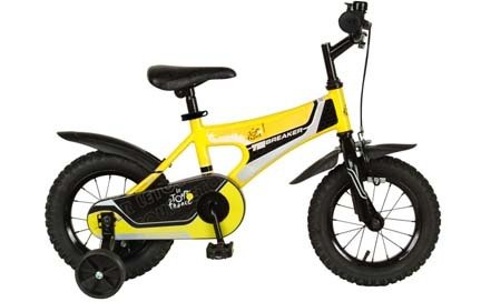 Tour de France Kid's Tiebreaker Bike (Yellow/Black, 12-Inch)