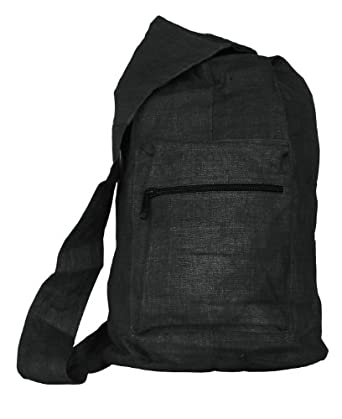 Hemp Courier Bag (black)