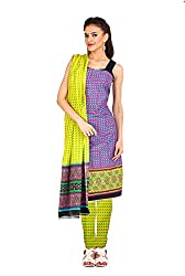 Aryahi Women's Cotton Dress Material (70498_Purple)