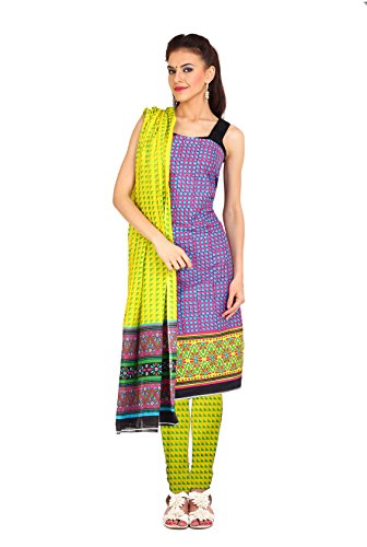 Aryahi Women's Cotton Dress Material (70498_Purple ...