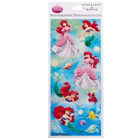 Hallmark - Disney Little Mermaid Ariel and Friends Holographic Sticker Sheets - 1
