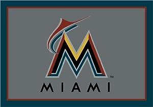 Florida Marlins 7 8 x 10 9 Team Spirit Area Rug by Milliken