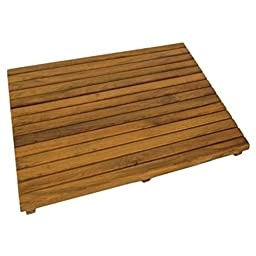 SurfStow 50021 Teak Shower Mat, Oiled Finish