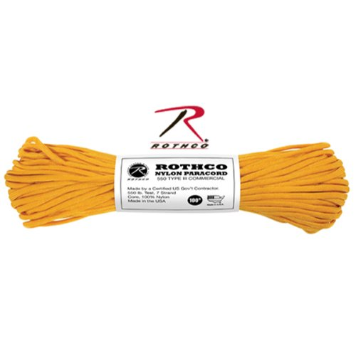 Rothco (Rosco) para cord 30 m resistance weight 250 Kg golden rod