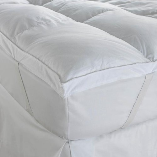 Double Hotel Quality Extra Soft Luxury 100% 200TC Cotton 4in Thick Mattress Topper