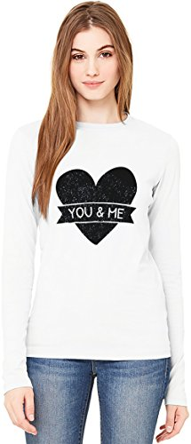 You And Me T-Shirt da Donna a Maniche Lunghe Long-Sleeve T-shirt For Women| 100% Premium Cotton| DTG Printing| XX-Large