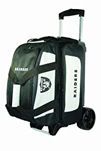 NFL Double Roller Bowling Bag- Oakland Raiders by KR Strikeforce Bowling Bags