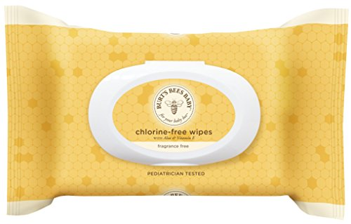 Burt's Bees Baby Chlorine-Free Wipes, 72 Count (Packaging May Vary)