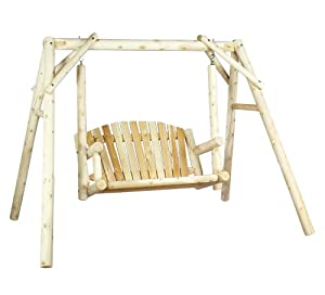 Cedarlooks 0700027 Log 5-Feet American Garden Swing with Stand by Rustic Natural Cedar Furniture Co.