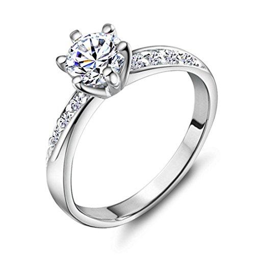 Imixlot Engagement 18k White Gold Filled CZ Promise
