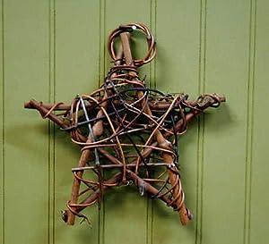 Rustic Natural Twig Star Ornaments- Set of 4